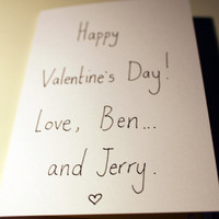Funny Valentine card  Ben and Jerry Hand drawn and by smuttydraws