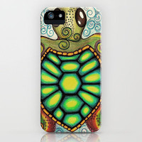 Baby Sea Turtle iPhone Case by Alohalani | Society6