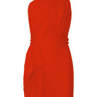 Martin Grant Backless draped silk-crepe dress - 55% Off Now at THE OUTNET