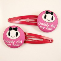 $10.00 Daddy Did My Hair  Hair Clips or Hair Ties by DiamondRhino on Etsy