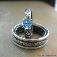Engagement Ring or Promise Ring Blue Topaz by jorgensenstudio