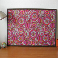 Medallion Printed Fabric Cork Board by TerraCasa on Etsy
