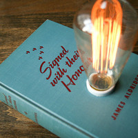 Hardback Book Lamp - Signed with their Honour