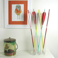 Mini Sunset Arrow Set in Sea Green, Red and Yellow Home Decor