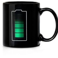 ECOSCO Battery Morph Coffee & Beverage Heat Sensitive Color Changing Mug