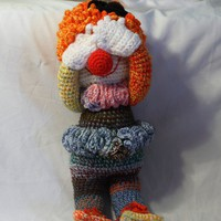 "Crochet Doll - Clown - 20"" Tall"