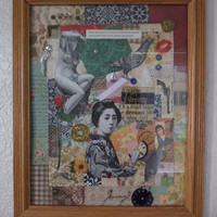 Shhhhhh Their Secret - Another Handmade-Original Framed Assemblage-Collage On Etsy By AlteredHead With Free Shipping