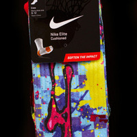 Thesockgame.com — South Beach Zombie Taxis - Custom Nike Elite Socks - Inspired by Nike Lebron James shoes
