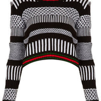 Knitted Mono Morrocan Crop Jumper - Rave New World  - Collections