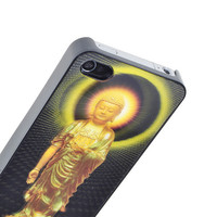 Sacred Protective Buddha 3D Illusion Hologram Hard Case Cover for Iphone 4 4S