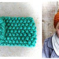 New Color - Knit Headband - Earwarmer - Turquoise