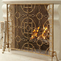 &quot;Equestrian&quot; Fireplace Screen - Horchow