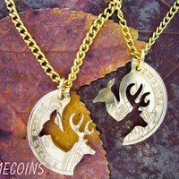 Buck and Doe Necklace Relationship Interlocking Love by NameCoins