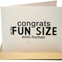 New Baby Modern Funny Greeting Card by dodelinedesign on Etsy