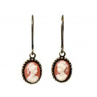 Mini Cameo Earrings