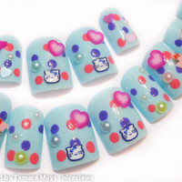 Hello Kitty Cute Kawaii 3D Fake Nail Set