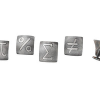 MATH SYMBOL CUFFLINK | Geek Cufflinks, Jewelry, Pi Symbol | UncommonGoods