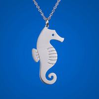 Seahorse Necklace by marymaryhandmade on Etsy