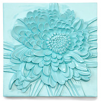 Z Gallerie - Chrysanthemum Plaque - Aquamarine