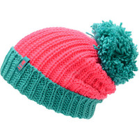 Neff Girls Sofia Pink &amp; Green Pom Beanie
