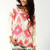 Jill Aztec Print Jumper