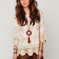 Diamond Crochet Tunic at Free People Clothing Boutique
