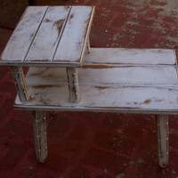 Table Shabby Chic Vintage Upcycled Recycled by honeystreasures