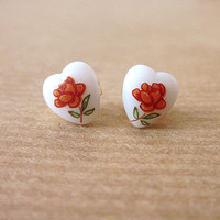 Romy Rose Heart Stud Earrings