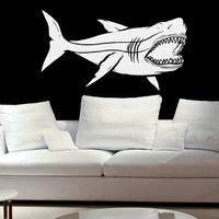 Wall Decal Megalodon Great White Shark Jaws Great White Vinyl wall decal sticker B0902