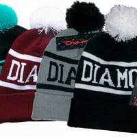 Hip-Hop Diamond supply Beanies Winter Cotton 1 size fits all knit cap wool Hats