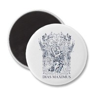 dias maximus affected blue fridge magnet from Zazzle.com