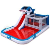 Amazon.com: Blast Zone Shark Park Inflatable Water Park Bouncer: Toys & Games