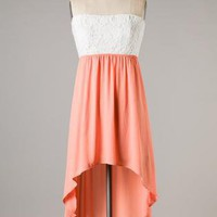 High-low Apricot Tea Dress