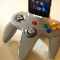 Nintendo 64  iPhone/iPod/iTouch Dock by GeekUnique on Etsy