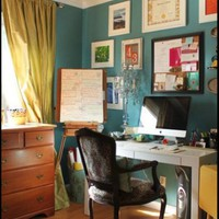 Lauren&amp;#39;s Office Makeover / Repaint in this color Rendezvous Bay by Benjamin Moore