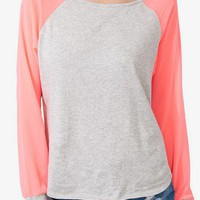 Heathered Chiffon Sleeve Top