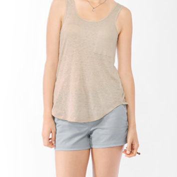 Linen Button Back Tank | FOREVER 21 - 2000045436