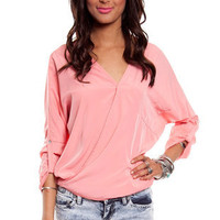 Sienna Pocket Top $26