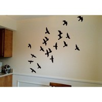 Flock of Birds Wall V2 Decal Sticker (Larger Birds) 6-8in