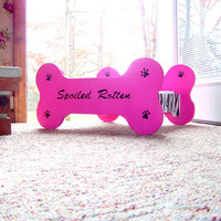 Custom Made  Personalized Wooden Dog Bed by SassyFrassStudio