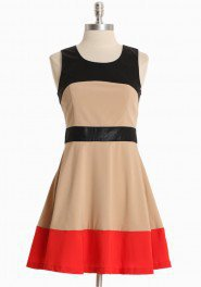 Fire And Ice Color Block Dress | Modern Vintage New Arrivals