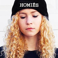 Homies new celebrity beanie wooly hat black white from retrovillage