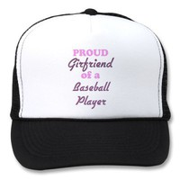 Proud Girlfriend of a Baseball Player Mesh Hat from Zazzle.com