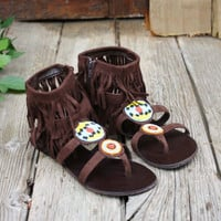 Indian Summer Beaded Sandals, Sweet Country Inspired Shoes