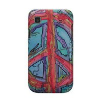 Peace Sign Galaxy Phone Case Samsung Galaxy S Cover from Zazzle.com