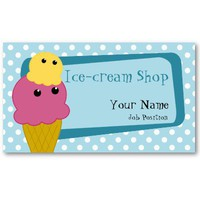 Ice-cream Shop Business card from Zazzle.com
