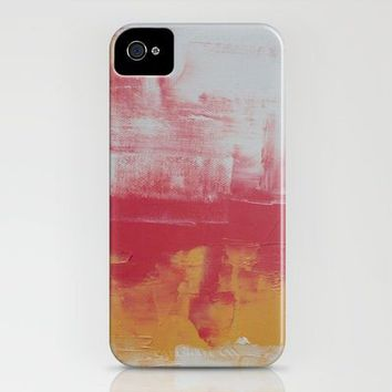 rose and yellow abstract iPhone Case by Romi Vega | Society6