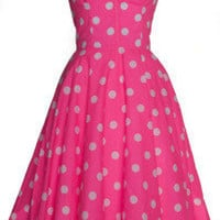 Style Icon's Closet 50s style Vintage Inspired Pin-Up African Print Retro Rockabilly Clothing — Polka Dot 50s Inspired Swing Dress
