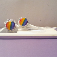 Show off your Rainbows or Pride Sparkle Earbuds