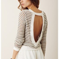 Nightcap Keyhole Crop Sweater